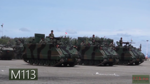 Presentation of M113 small troup carrier